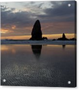 Cannon Beach At Sunset 7 Acrylic Print