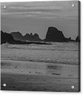Cannon Beach Bw Acrylic Print