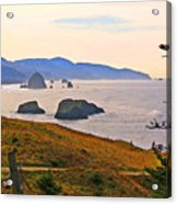 Cannon Beach From Ecola State Park Acrylic Print