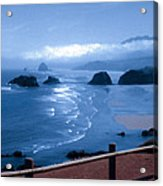 Blue Waters On Cannon Beach Acrylic Print