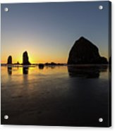Cannon Beach Low Tide Sunset Acrylic Print