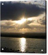 Cannon Beach Sunburst Acrylic Print