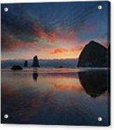 Cannon Beach Sunset Acrylic Print