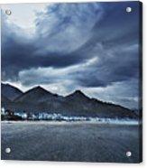 Cannon Beach Under Clouds Acrylic Print