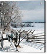 Cannon Under Snow Acrylic Print