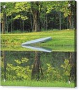 Canoe At Ponds Edge Acrylic Print