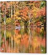 Canoe Fishing  Fall Acrylic Print