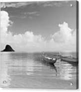 Canoe Landscape - Bw Acrylic Print