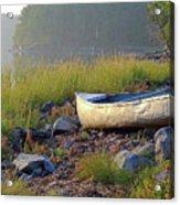 Canoe On The Rocks Acrylic Print