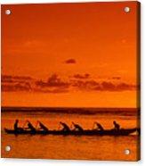 Canoe Paddlers Acrylic Print