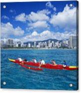 Canoe Race Acrylic Print
