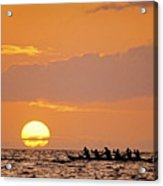 Canoeing At Sunset Acrylic Print