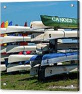 Canoes Cascaded Acrylic Print