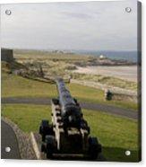 Canon Defends Bamburgh Castle Acrylic Print