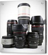 Canon Lenses Acrylic Print