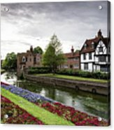Canterbury City, Kent Uk Acrylic Print