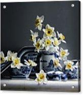 Canton With Daffodils Acrylic Print