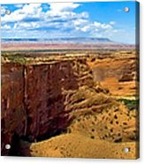 Canyon De Chelley Panoramic Acrylic Print