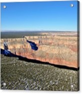 Canyon Edge Aerial Plateau Acrylic Print