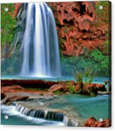 Canyon Falls Acrylic Print by Scott Mahon