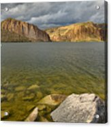 Canyon Lake Stormy Sky Acrylic Print