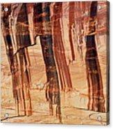 Canyon Textile Design Acrylic Print