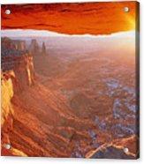 Canyonlands Cavern At Sunset Acrylic Print