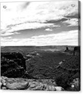 Canyonlands National Park Utah Pan 06 Bw Acrylic Print