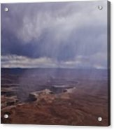 Canyonlands Rain On The Green River Acrylic Print