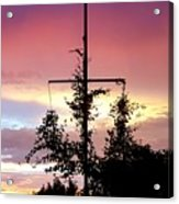 Cape Ann Sunset Silhouettes Acrylic Print