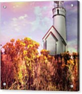 Cape Blanco Lighthouse In Oregon Acrylic Print