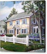 Cape Cod House Painting Acrylic Print