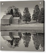 Cape Cod Reflections Black And White Photography Acrylic Print