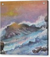 Cape Cod Waves Acrylic Print by Lyn Vic