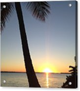 Cape Coral Winter Sunset  Acrylic Print