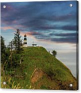 Cape Disappointment After Sunset Acrylic Print