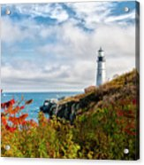 Cape Elizabeth Maine - Portland Head Lighthouse Acrylic Print