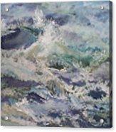 Cape Elizabeth Wave Breaks Acrylic Print