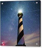 Cape Hatteras Light Under The Stars Acrylic Print