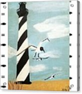 Cape Hatteras Lighthouse - Fish Border Acrylic Print