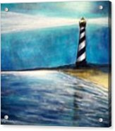 Cape Hatteras Lighthouse Night Glow Acrylic Print