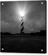 Cape Hatteras Light And The Milky Way Galaxy Acrylic Print