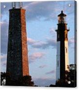 Cape Henry Lighthouses In Virginia Acrylic Print