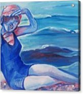 Cape May 1920s Girl Acrylic Print