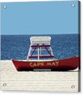 Cape May Lifeguard Station Boat Acrylic Print