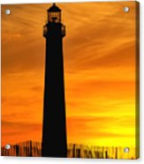Cape May Light Sunset Acrylic Print