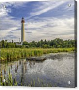Cape May Lighthouse From The Pond Acrylic Print