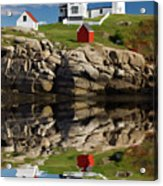 Cape Neddick Reflection - D003756a Acrylic Print by Daniel Dempster