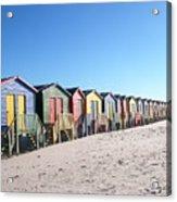 Cape Town Beachhuts Acrylic Print