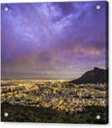 Cape Town From Signal Hill At Sunset Acrylic Print